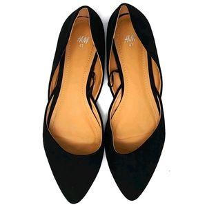 H&M 303160 Women's Black Flats Size 9.5